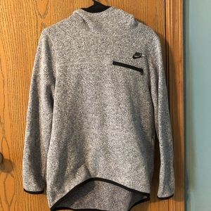 Gray Nike Sweatshirt with Black Details Size Small